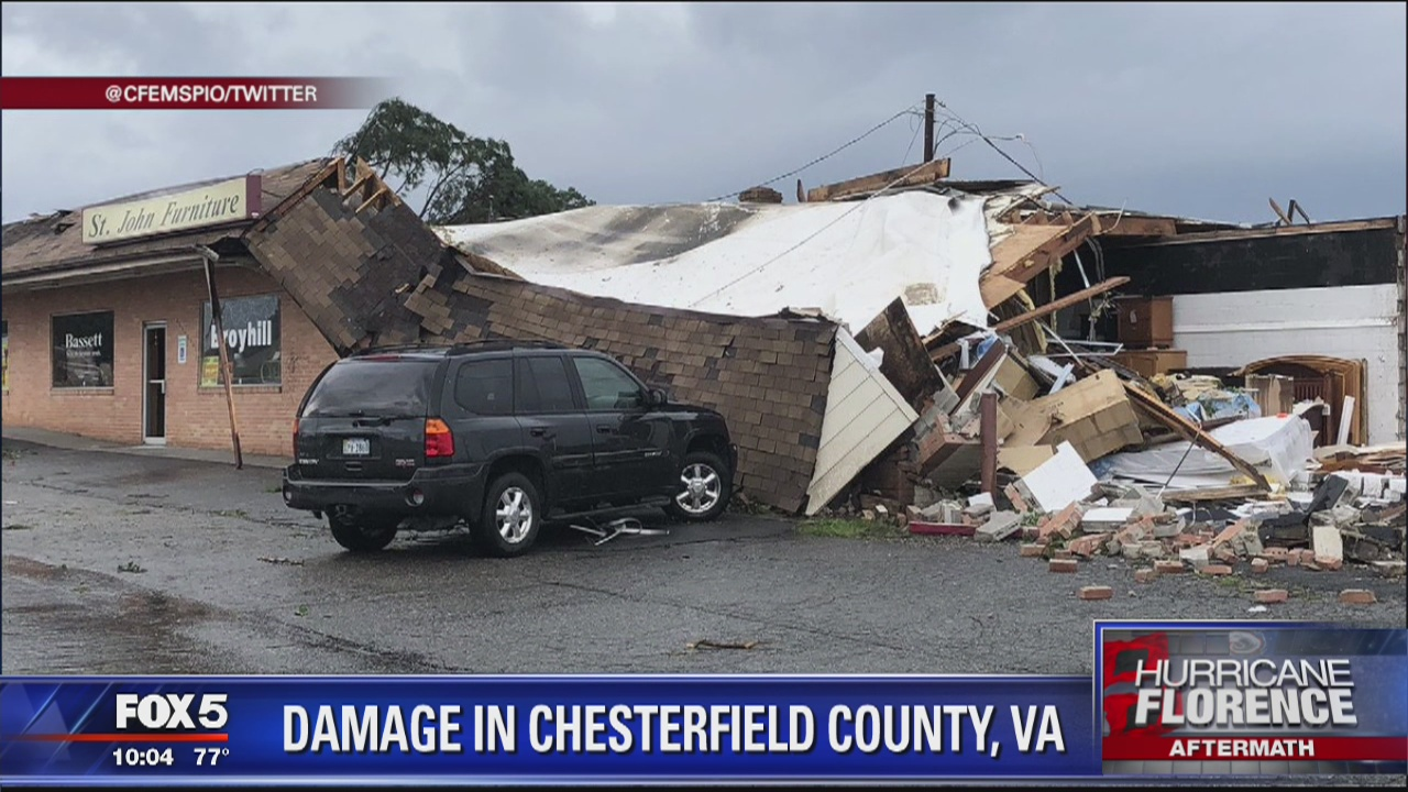 1 dead in Richmond area after apparent tornado from remnants