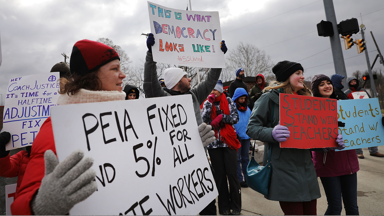 W.Va. teachers' unions call for strike over education bill