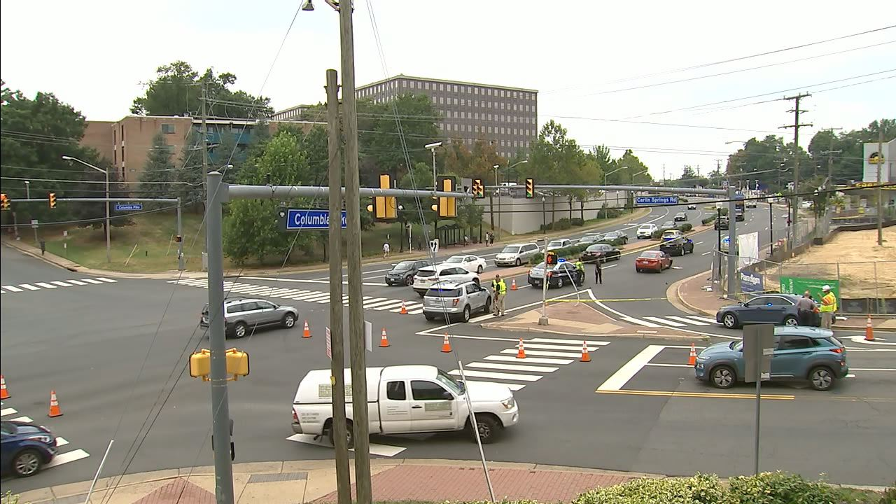 Pedestrian hospitalized with 'life-threatening injuries' after being struck by vehicle, Fairfax County police say