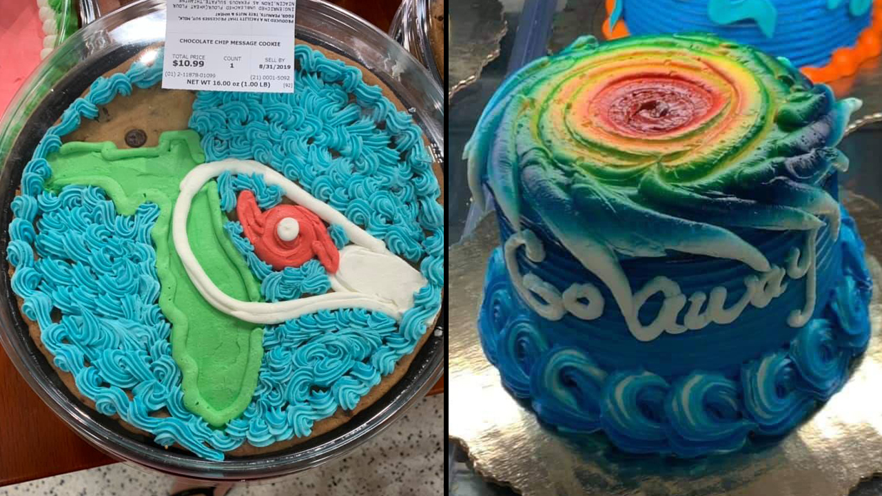 Magnificent Hurricane Dorian Themed Cakes From Publix Prompt Mixed Reviews Birthday Cards Printable Opercafe Filternl