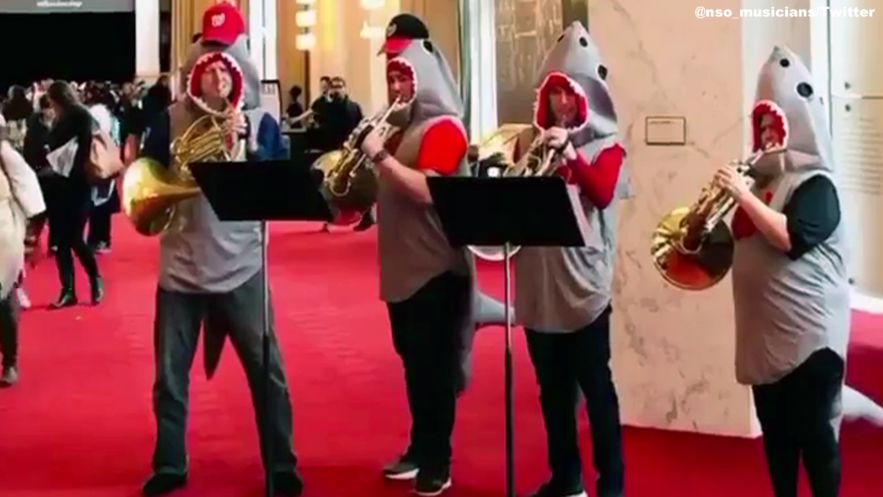 National Symphony Orchestra performs 'Baby Shark' at the John F. Kennedy Center for the Performing Arts