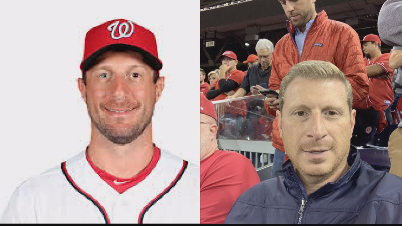 Max Scherzer look-alike turns heads ahead of Nationals' World Series run