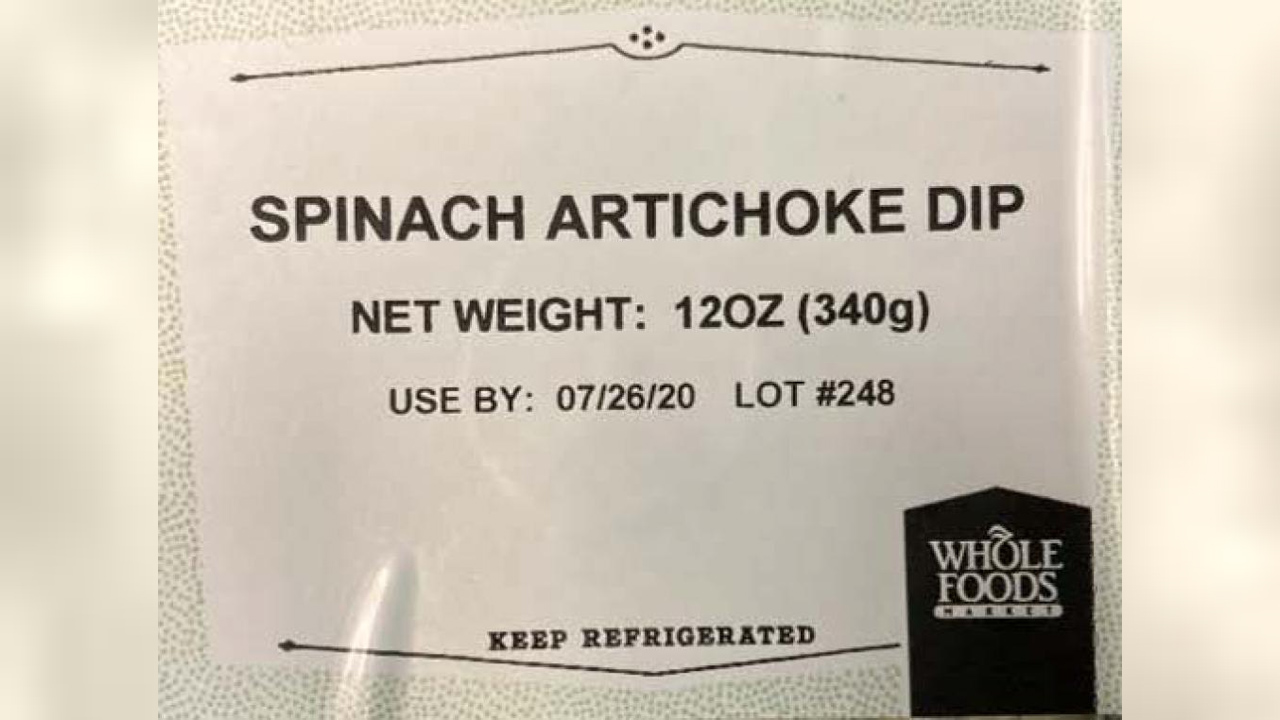 Whole Foods Spinach Artichoke Dip Recalled Due To Undeclared Egg